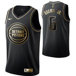 Detroit Pistons #6 Bruce Brown Jr.Swingman Jersey